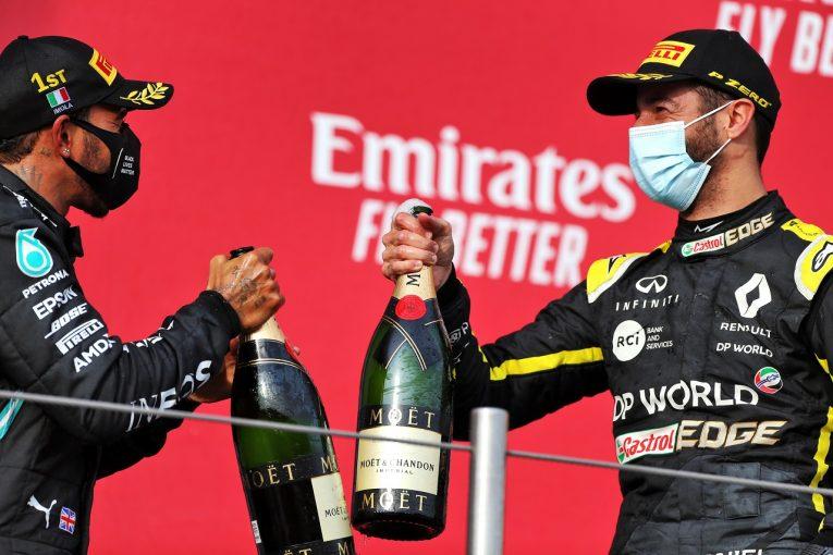 F1 | F1、表彰式での祝杯にフェッラーリ・トレントのスパークリングワインを使用。2021年からの3年契約を締結