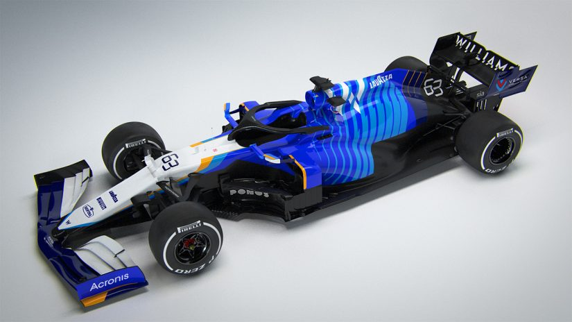 F1 | ウイリアムズ2021年型F1『FW43B』:かつての名車にインスパイアされたカラーリングに。新たなスポンサーロゴも加わる予定
