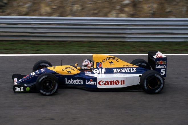 1992年のF1タイトルを獲得したウイリアムズFW14B(ナイジェル・マンセル)