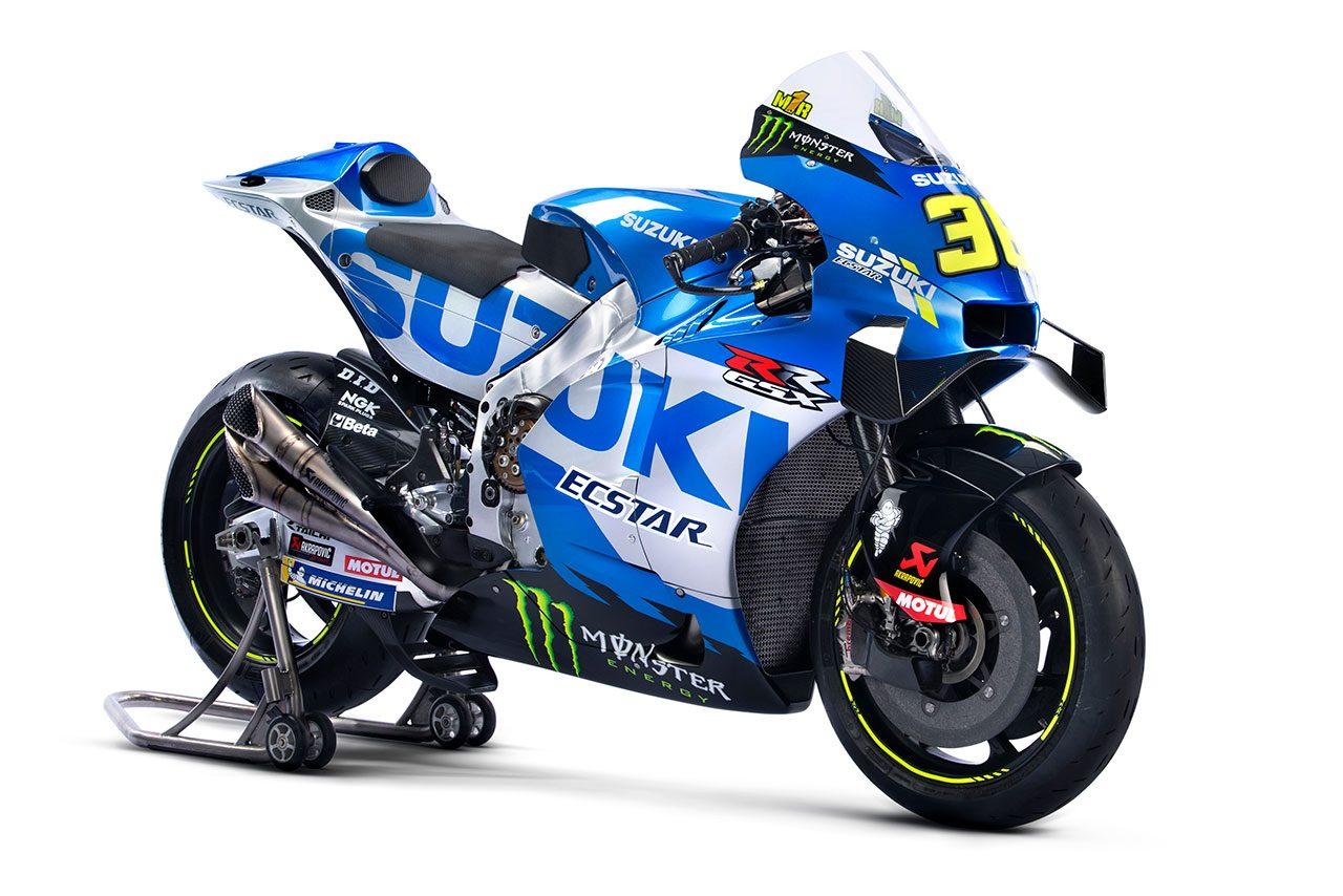 スズキ、MotoGP体制発表で2021年型GSX-RRをアンベイル。継続参戦のミルとリンスで2連覇目指す