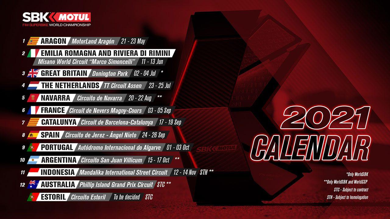 SBKの暫定カレンダーが再度変更に。開幕は5月末のアラゴン、第5戦はスペインのナバラ・サーキットで開催