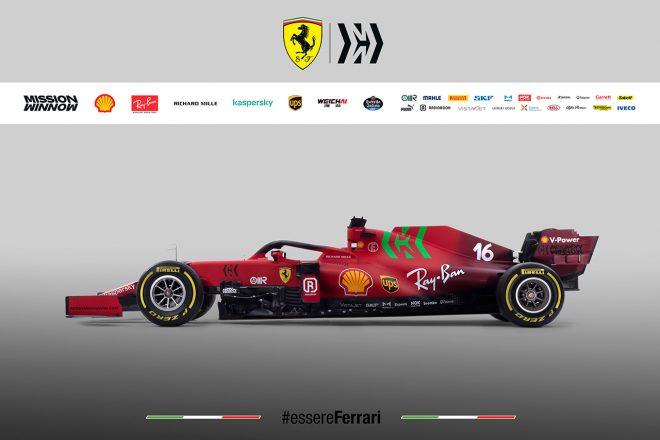 フェラーリF1の2021年型マシン『SF21』