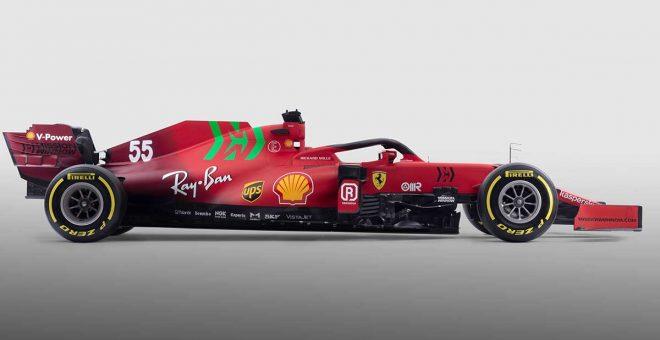 フェラーリの2021年型F1マシン『SF21』右側面アップ