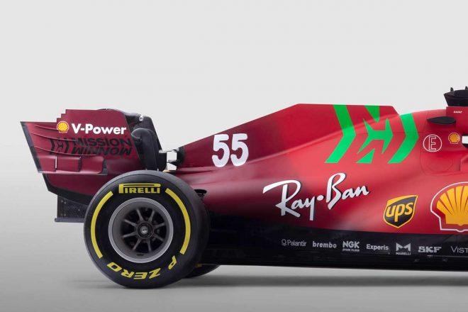 フェラーリの2021年型F1マシン『SF21』右側面リヤ