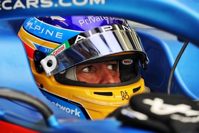F1 | F1復帰のアロンソ、128周を走行「車の感触は良好。ハードタイヤで距離を重ねるという目標を達成した」