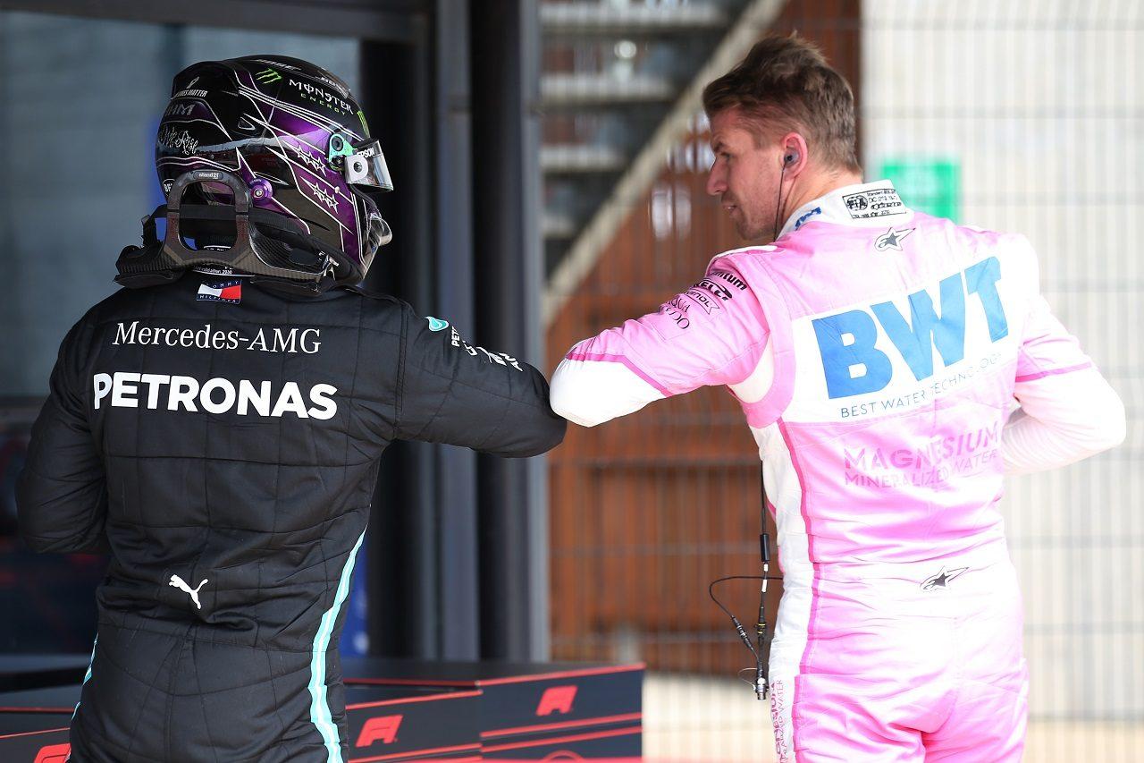 ルイス・ハミルトン(メルセデス)とニコ・ヒュルケンベルグ(レーシングポイント)