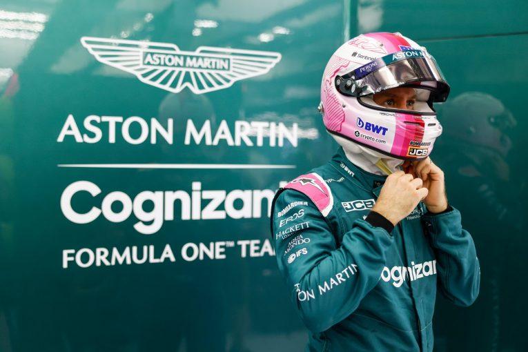 F1 | アストンマーティンF1のベッテル、BWT社のアンバサダーとしてヘルメットカラーをピンクに一新