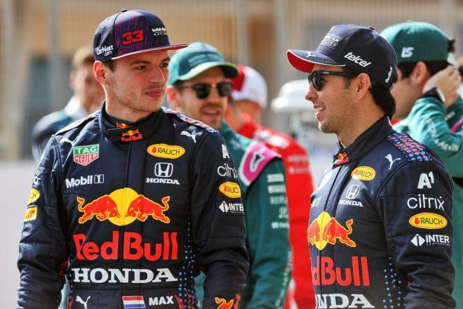 2021年F1プレシーズンテスト マックス・フェルスタッペンとセルジオ・ペレス(レッドブル・ホンダ)