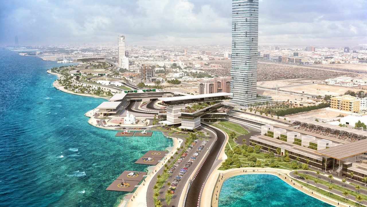 F1サウジアラビアGPの開催地ジェッダ・ストリート・サーキット