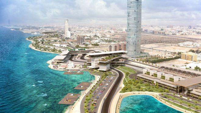 F1サウジアラビアGPの開催地ジェッダ・ストリート・サーキット予想図