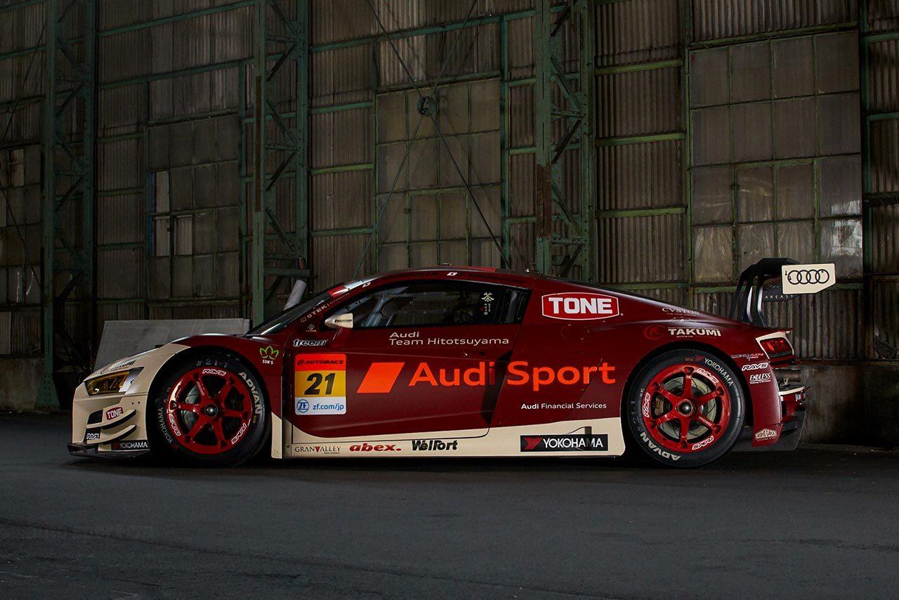 Audi Team Hitotsuyama、2021年のマシンカラーを発表。レッド&アイボリーのデザインに