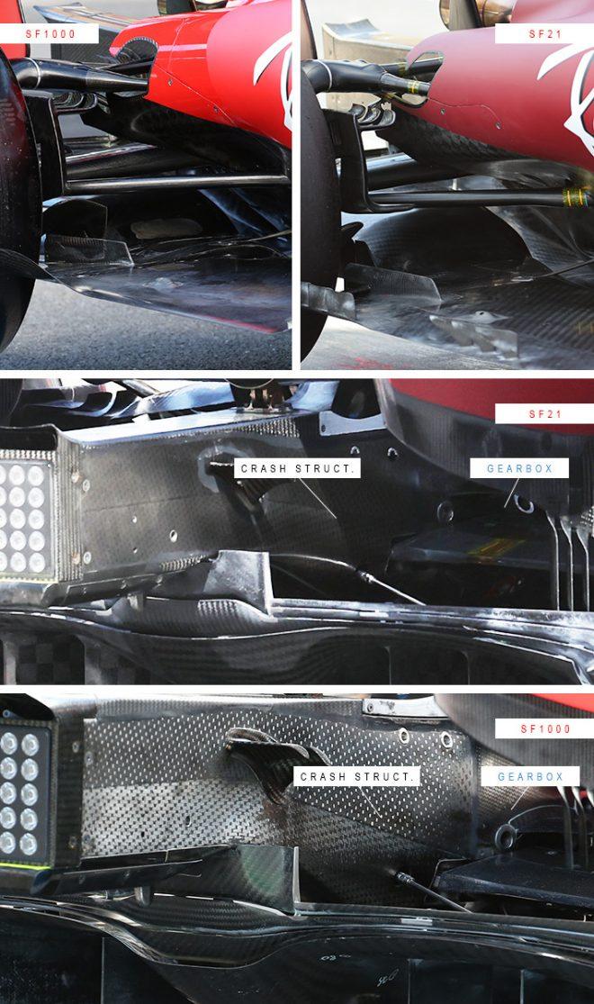 フェラーリSF21とSF1000のサスペンション