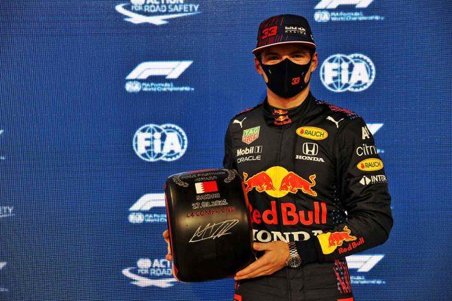 2021年F1第1戦バーレーンGP ポールポジションを獲得したマックス・フェルスタッペン(レッドブル・ホンダ)