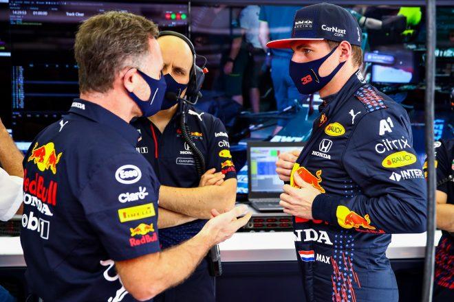 2021年F1第1戦バーレーンGP マックス・フェルスタッペンとクリスチャン・ホーナー代表(レッドブル・ホンダ)
