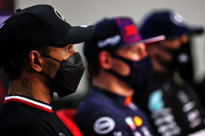 2021年F1第1戦バーレーンGP 予選後記者会見でのルイス・ハミルトン(メルセデス)