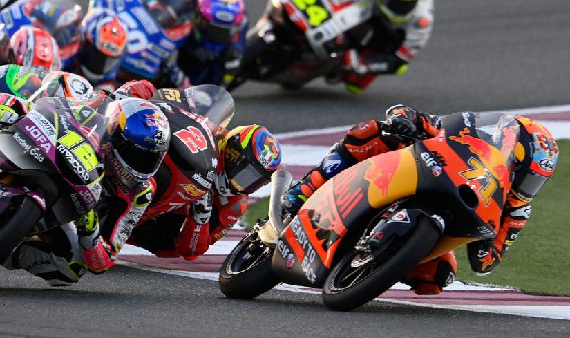 MotoGP   Moto3:上位争い演じた佐々木歩夢が最終ラップで転倒「優勝を狙っていたが、フロントを失った」/MotoGP第1戦カタールGP