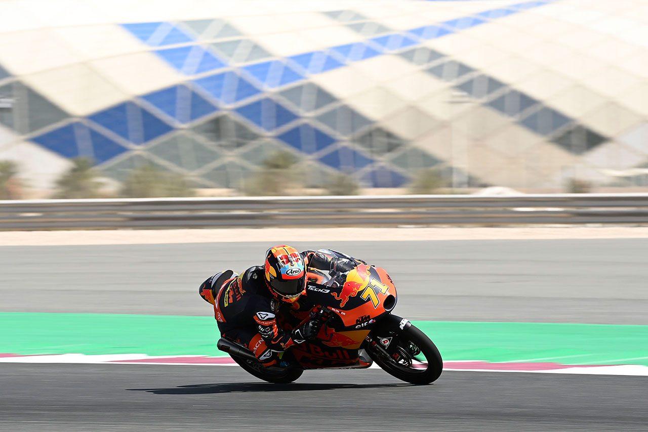Moto3:上位争い演じた佐々木歩夢が最終ラップで転倒「優勝を狙っていたが、フロントを失った」/MotoGP第1戦カタールGP