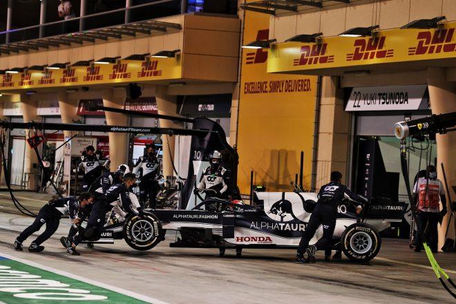 2021年F1第1戦バーレーンGP ピエール・ガスリー(アルファタウリ・ホンダ)がリタイア
