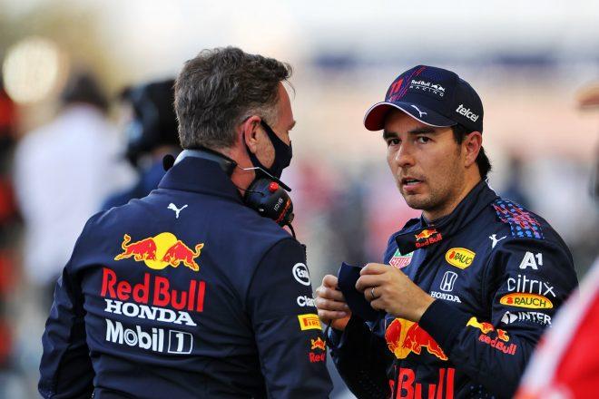 2021年F1第1戦バーレーンGP セルジオ・ペレスとクリスチャン・ホーナー代表(レッドブル・ホンダ)