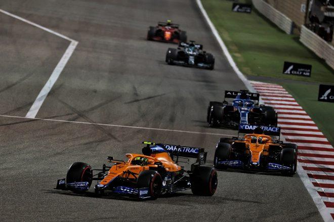2021年F1第1戦バーレーンGP ランド・ノリスとダニエル・リカルド(マクラーレン)