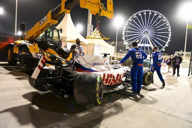 2021年F1第1戦バーレーンGP ニキータ・マゼピン(ハース)がクラッシュ