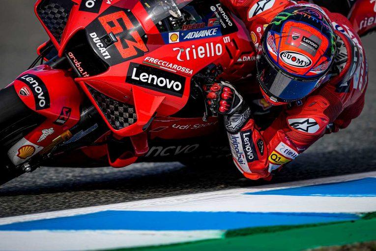 MotoGP | MotoGP第4戦スペインGP:初日総合トップはバニャイア。前戦で右鎖骨を痛めた中上は6番手につける