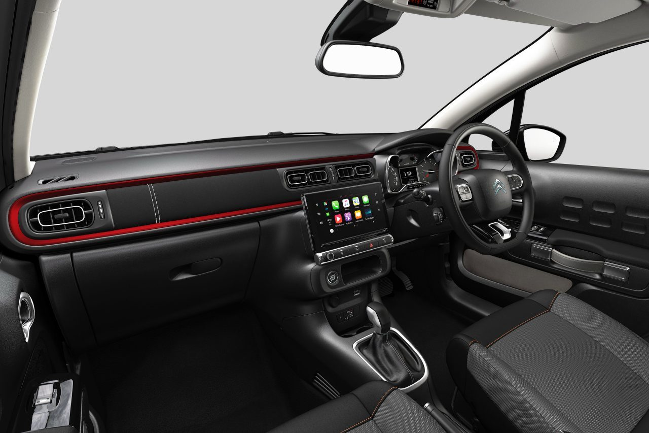 『シトロエンC3』にマットディープレッドのアクセントを採用した特別仕様車