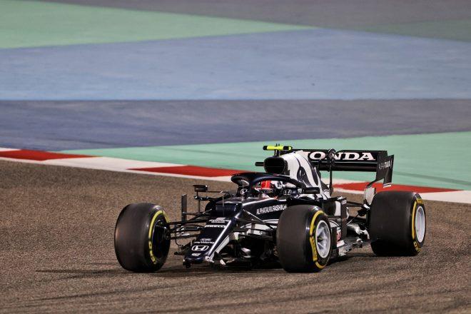 2021年F1第1戦バーレーンGP ピエール・ガスリー(アルファタウリ・ホンダ)、接触でフロントウイングを破損