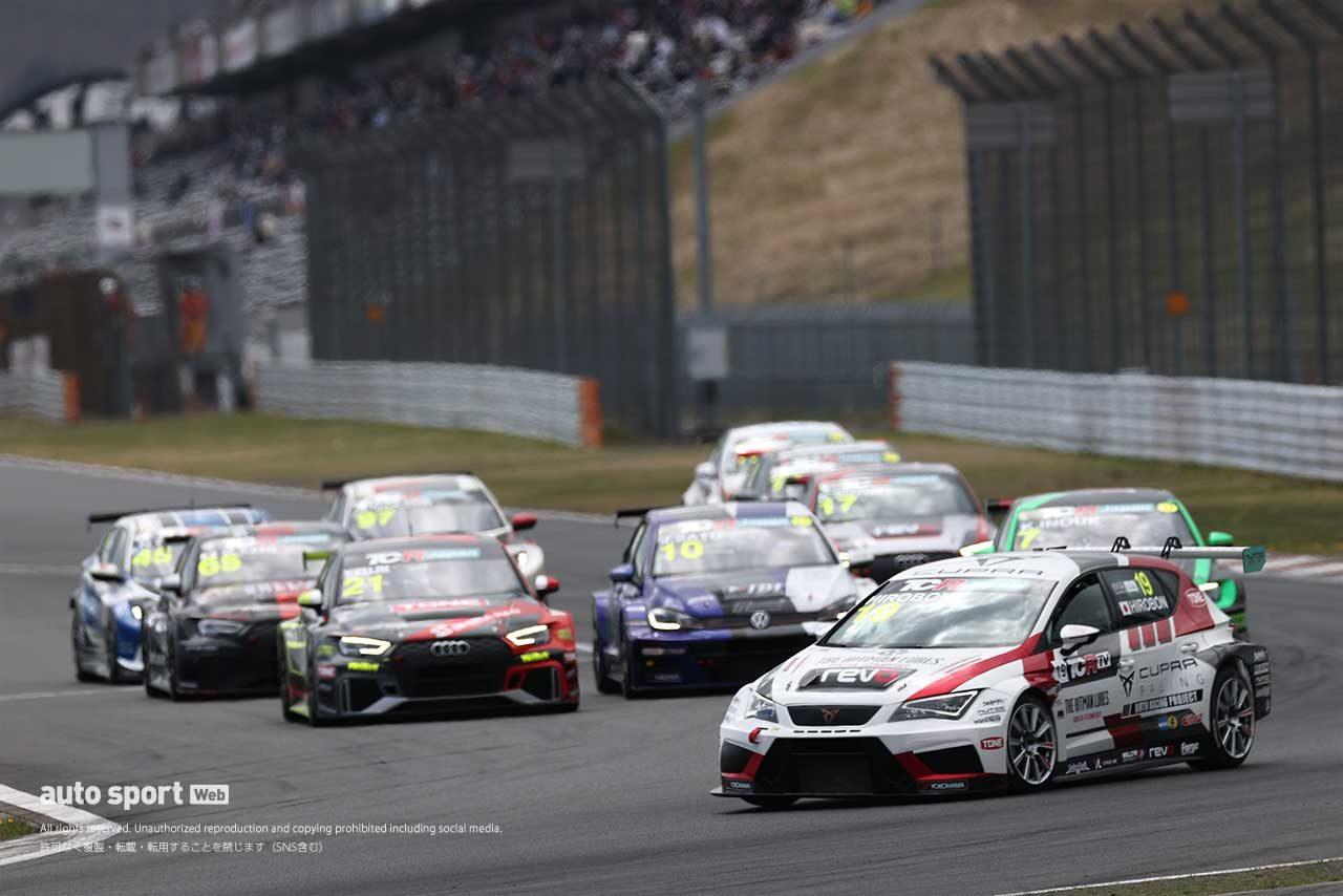 2021年TCRジャパン第1戦富士 サタデーシリーズ決勝スタートの様子