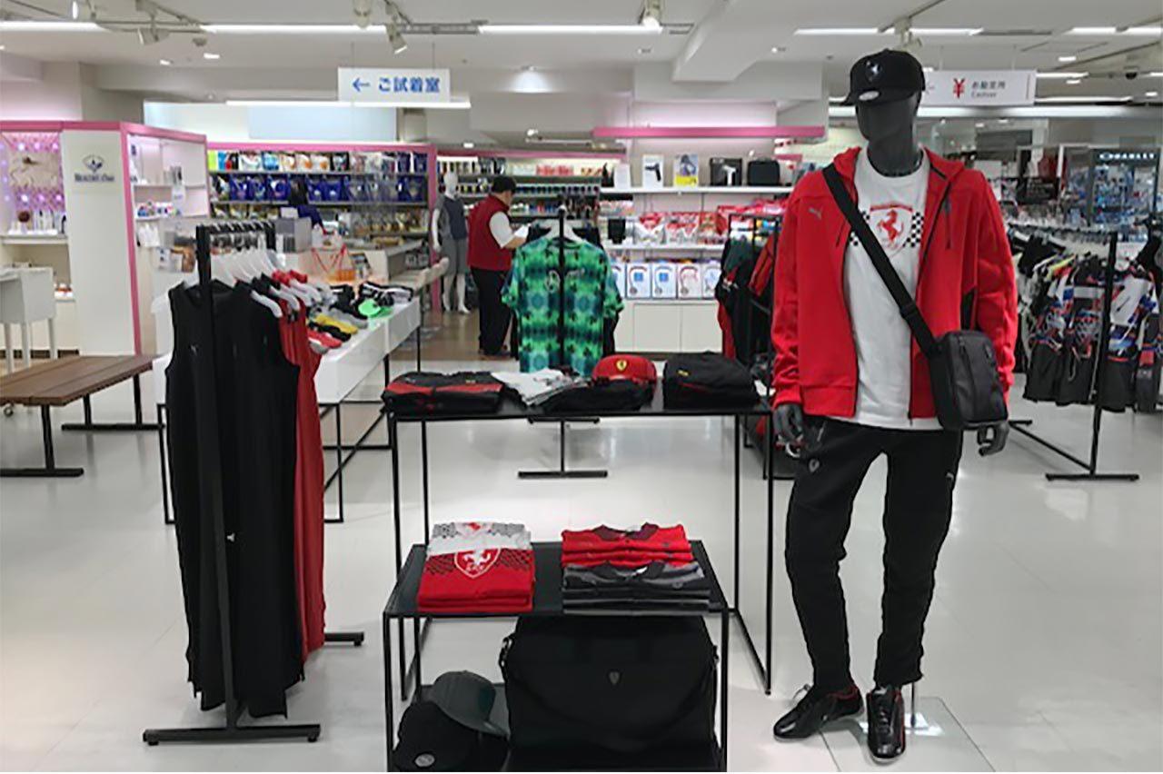 『PUMA MOTORSPORT POP-UP』店舗の様子
