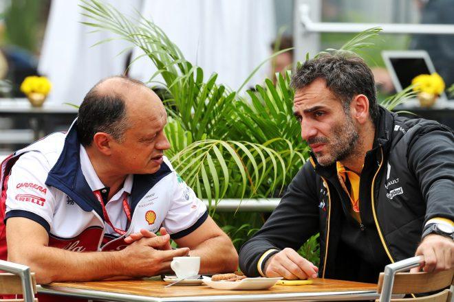 2019年F1メキシコGP フレデリック・バスール(アルファロメオ)とシリル・アビテブール(ルノー)
