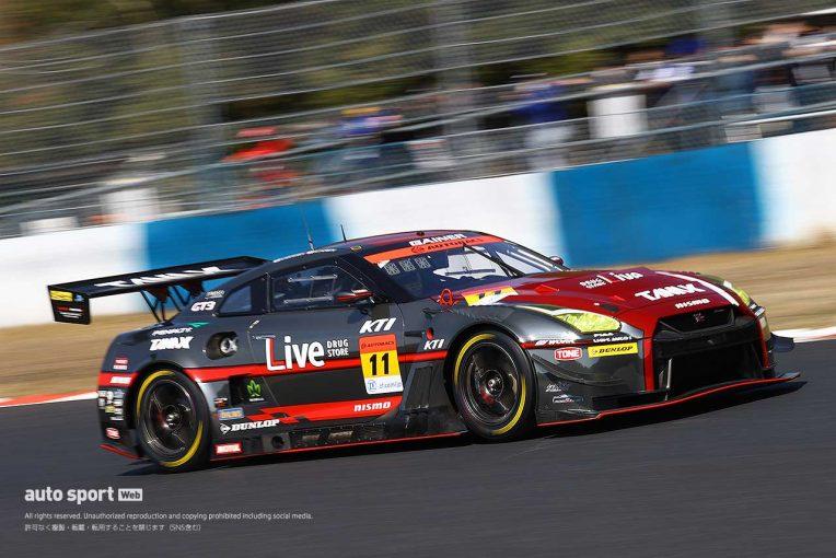 スーパーGT   GAINER TANAX GT-RがQ1ダントツのGRスープラ勢を退けてPPを獲得【第1戦岡山GT300予選】