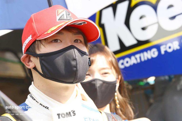 スーパーGT | 阪口晴南、会心のアタックでPP獲得。「この位置を守れるよう頑張りたい」【第1戦GT500予選会見】
