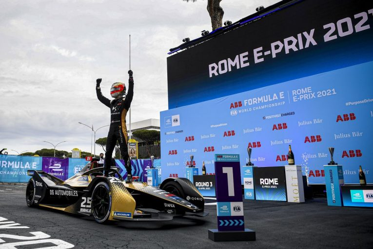 海外レース他 | 波乱のローマ連戦、バンドーンが今季初優勝。元トムスの2人は好位置を活かせず/フォーミュラE第3-4戦