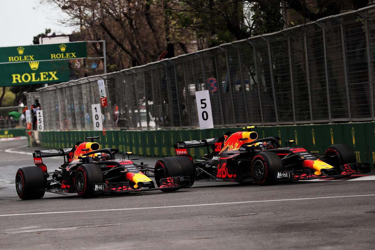2018年F1第18戦アゼルバイジャンGP ダニエル・リカルド&マックス・フェルスタッペン(レッドブル)