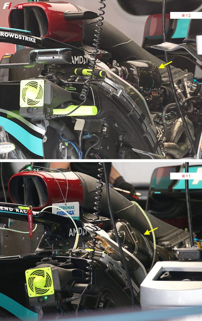 メルセデス2021年型W12と2020年型W11の比較