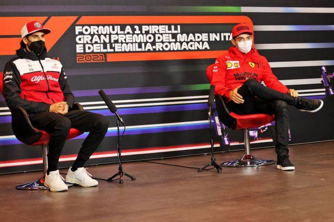 アントニオ・ジョビナッツィ(アルファロメオ)&シャルル・ルクレール(フェラーリ)
