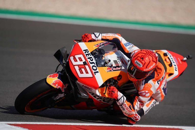 MotoGP   MotoGP第3戦ポルトガルGP:ついに復帰を果たしたM.マルケス、トップから0.5秒差の初日総合6番手。総合1番手はバニャイア