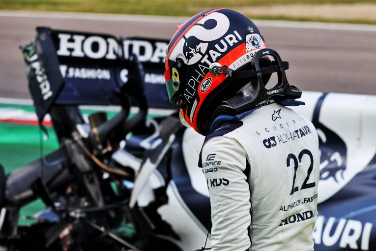 F1 | クラッシュの角田裕毅がチームに謝罪「攻めすぎてミス、大きなチャンスを失った。決勝で挽回する」/F1第2戦予選