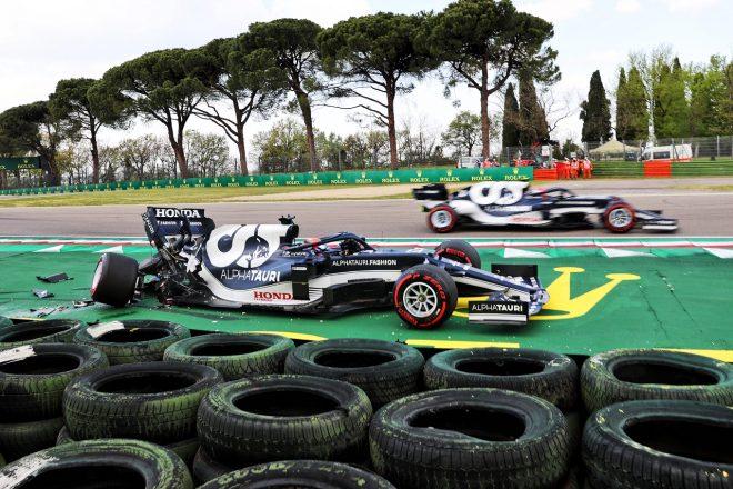2021年F1第2戦エミリア・ロマーニャGP 角田裕毅(アルファタウリ・ホンダ)が予選でクラッシュ