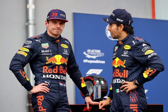 2021年F1第2戦エミリア・ロマーニャGP マックス・フェルスタッペンとセルジオ・ペレス(レッドブル・ホンダ)