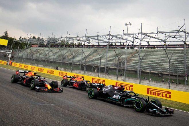 2021年F1第2戦エミリア・ロマーニャGP 抜群のスタートダッシュを決めたレッドブル・ホンダの2台