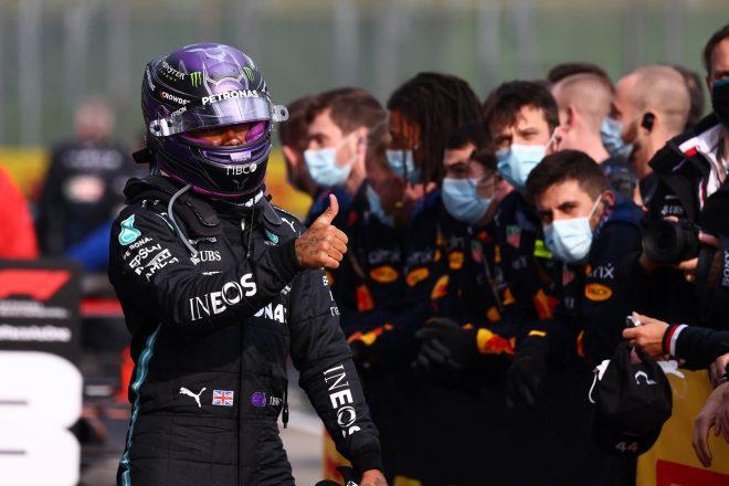 2021年F1第2戦エミリア・ロマーニャGP ルイス・ハミルトン(メルセデス)が2位獲得