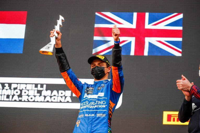 F1   ノリスが3位表彰台「2位は逃したが満足の結果。新パーツを持ち込んでくれたチームに感謝」マクラーレン/F1第2戦