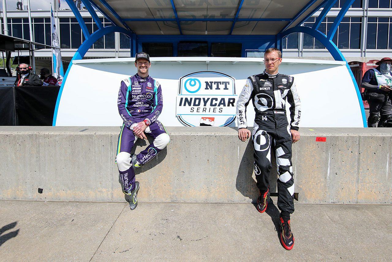 インディカーデビュー戦のトップ10フィニッシュに満足のグロージャン「ローリングスタートは綺麗にはいかなかった」