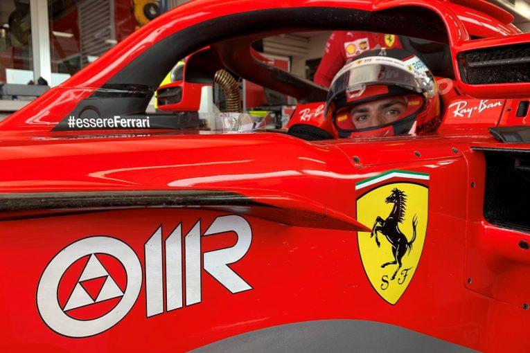 F1   サインツがフェラーリF1旧型車でテスト。次戦ポルトガルGPに備える