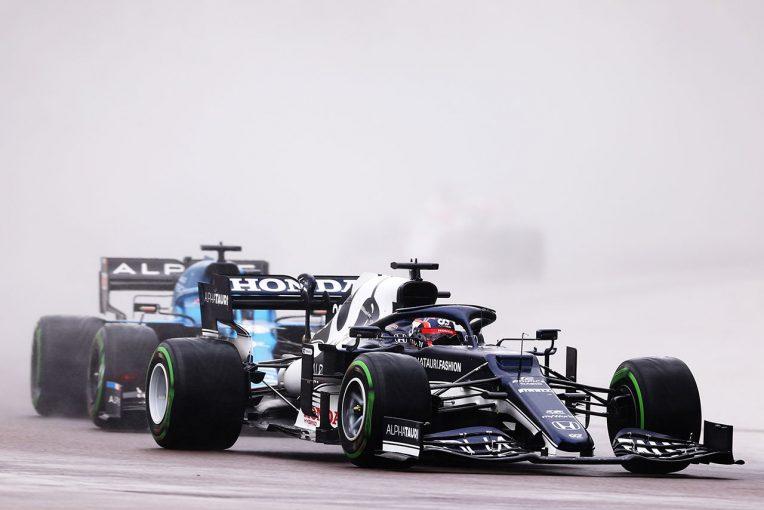 F1   タイヤ選択に振り回されたイモラ。角田は「様々な状況でのドライブに習熟しつつある」/ホンダ本橋CEインタビュー(1)