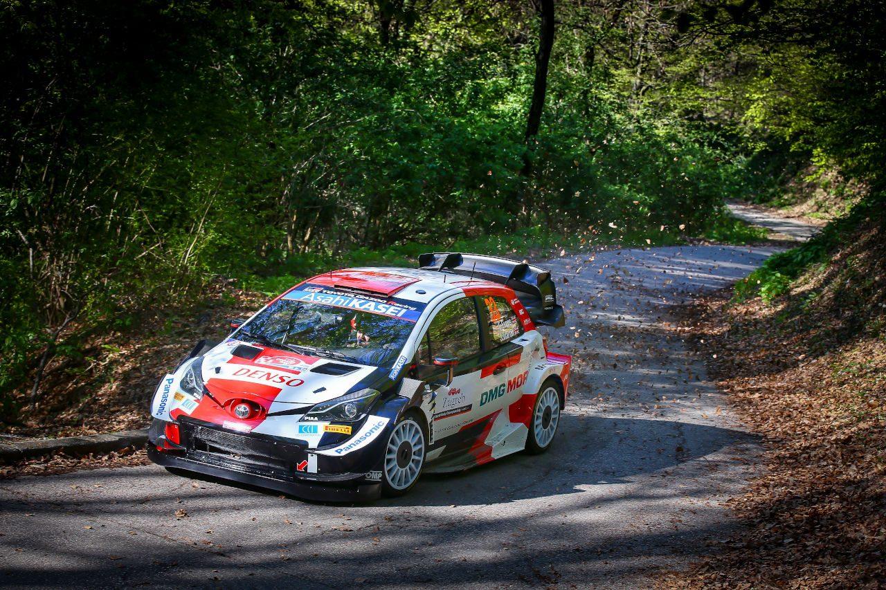 新エアロ投入のトヨタ勢がトップ6に4台。初開催WRCクロアチア、走り出しはエバンス最速