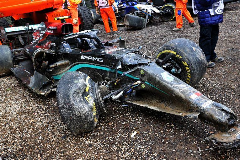 F1   大クラッシュのボッタス、F1ポルトガルGPでシャシー交換へ。パワーユニットは奇跡的に再利用可能か