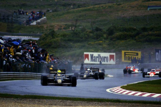 1985年F1ポルトガルGP アイルトン・セナ(ロータス97T・ルノー)